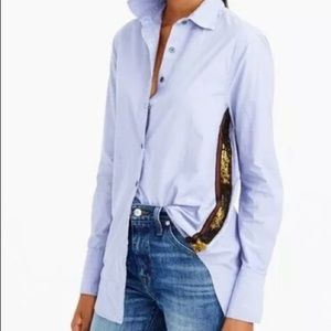 J Crew blouse with sequin detail